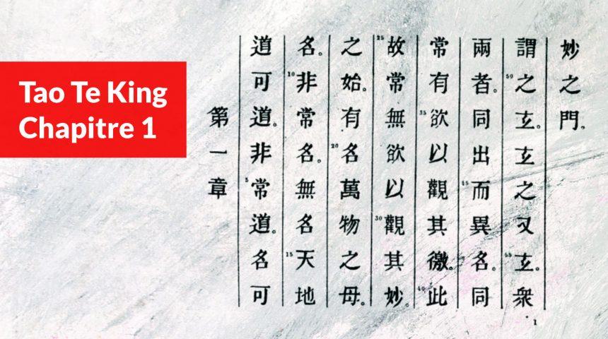 tao te king - chapitre 1