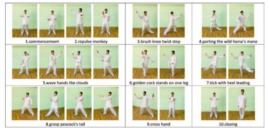 forme de tai chi en 10 mouvements