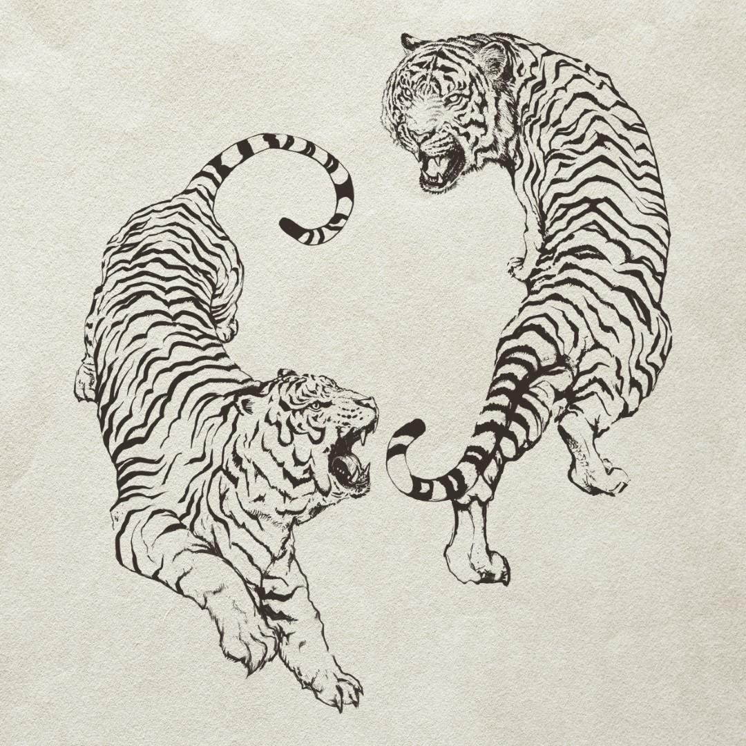 combat tigre tai chi yin yang