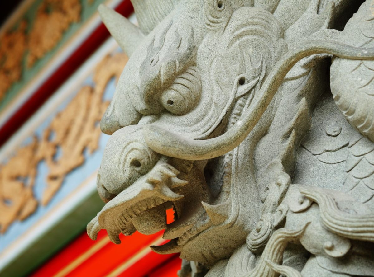 statue dragon chinois